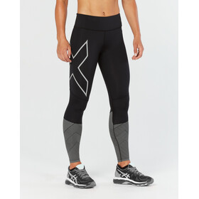 2XU Reflect Compression Tights Women Mid-Rise Black/Silver Reflective